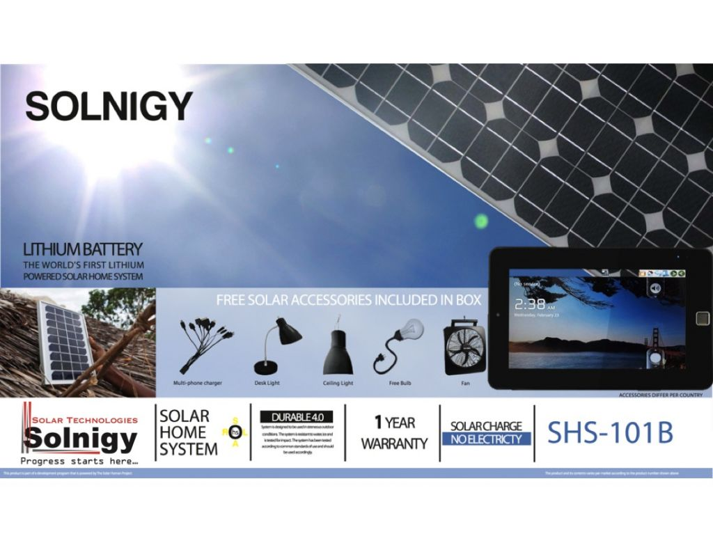Portable Off-Grid Solar Energy System For Tablet PC