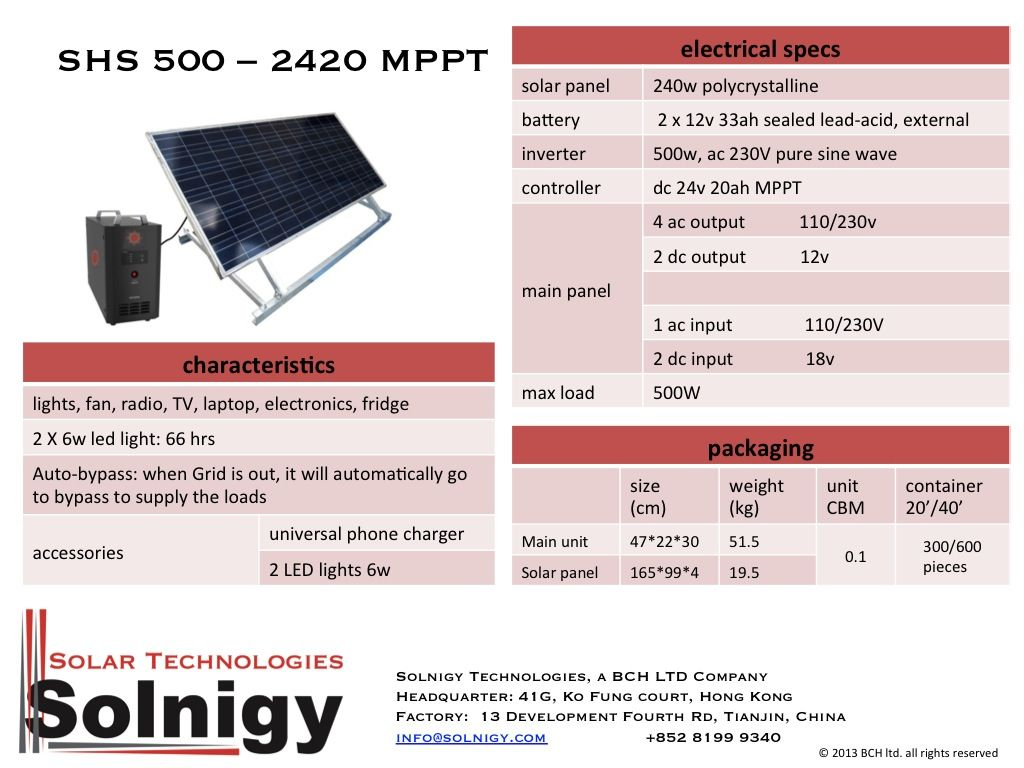 Solar Energy Home System