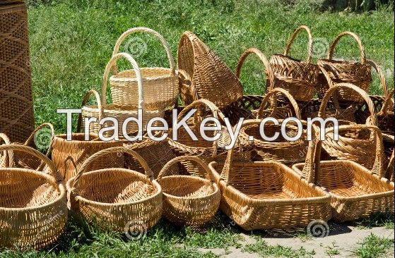 Mass Production Handle Basket Brown Color With Lower Price