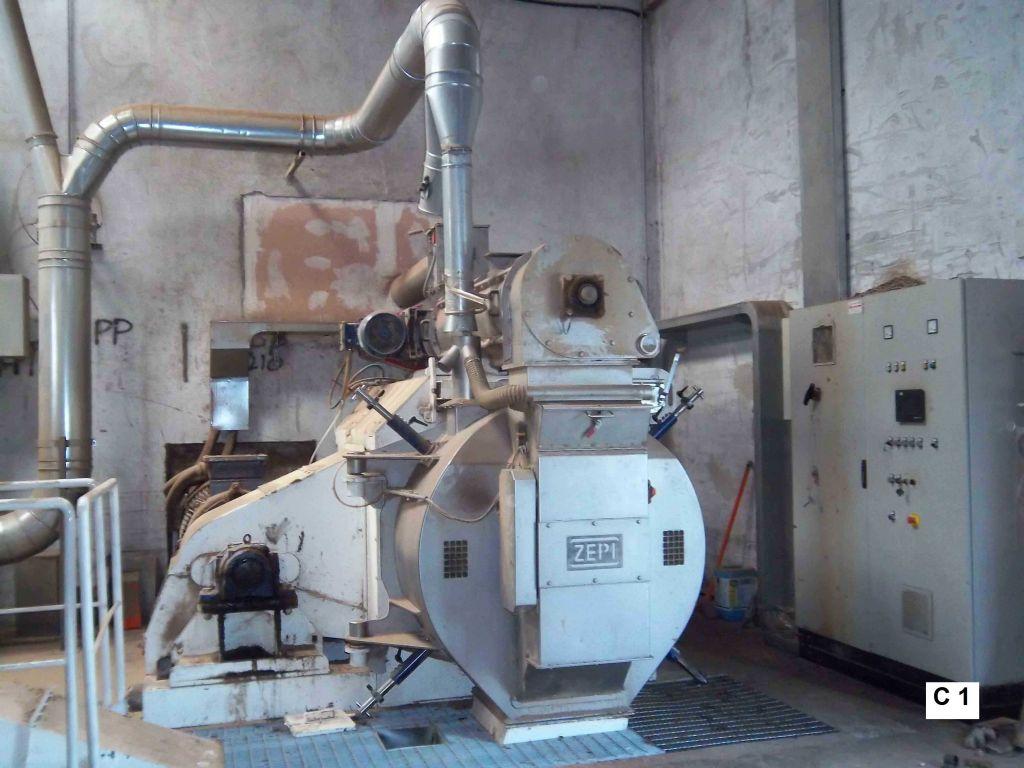 Used Complete Wood Pellet Production Line 4 MT/h (