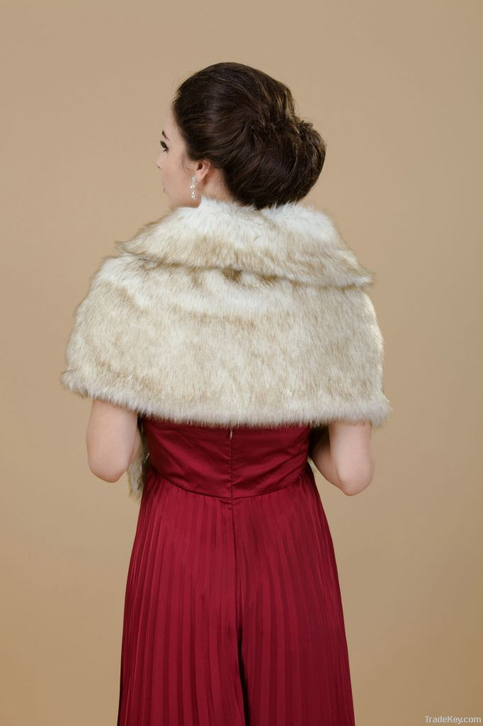 Faux Fur Stole-Fur Shawls for Wedding/ Party/ Evening and Casual.