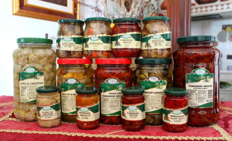 Italian Preserved vegetables in oil