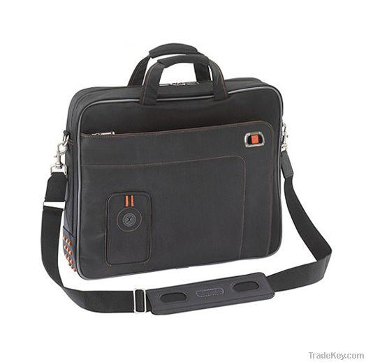 Multifunctional black nylon laptop bag