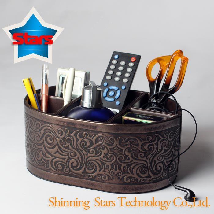 Desk Organizer Box (Leather)