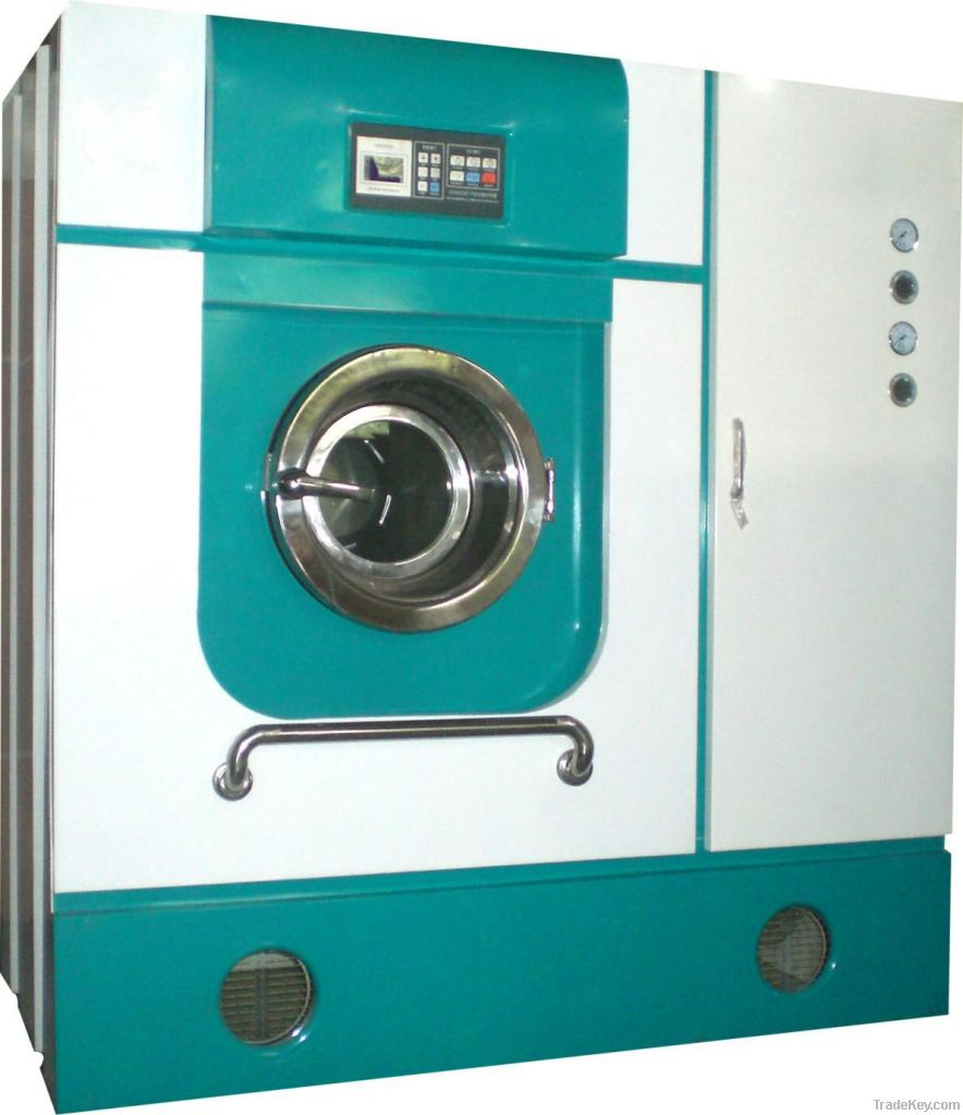 Full-automatic energy-saving oil dry-cleaning machine