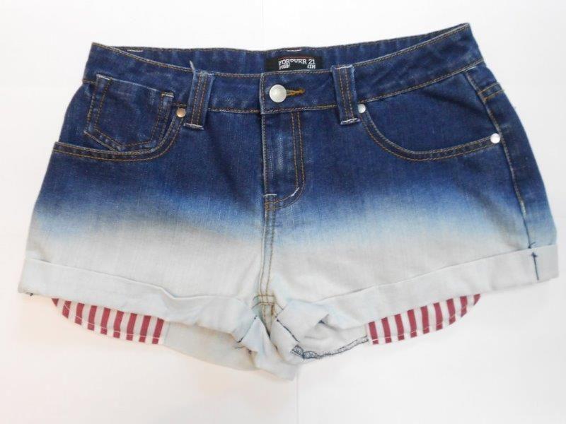 Ladies Denim (Dip Bleach Hotpants)