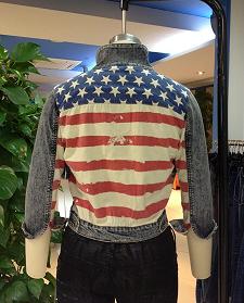 Women America Flag (Jeans,Jacket )