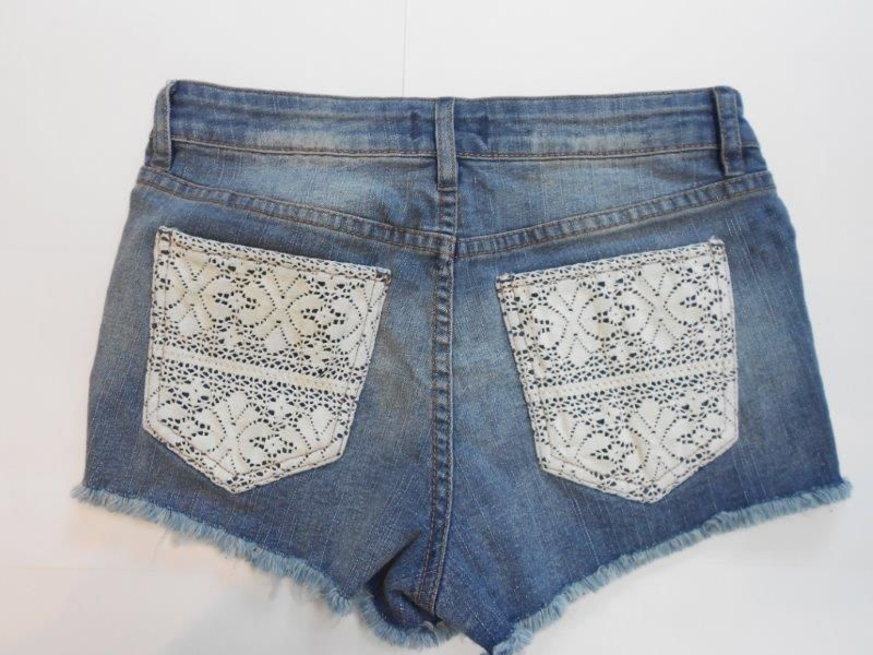 Denim Shorts (Ladies Laces)