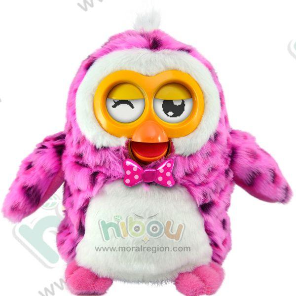 2014 new hot HIBOU electronic pet, educational toy, plush talking toy