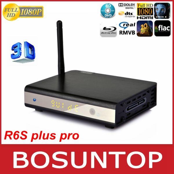 R6S plus pro hdd media player, 3D HD 1080P HDMI 1.4