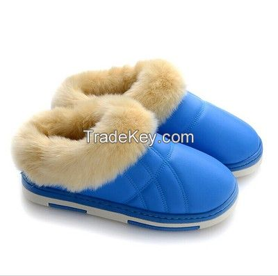 Winter keep warm slippers shoes 2014 winter indoor lovers slip-resistant platform slippers shoes for men and women