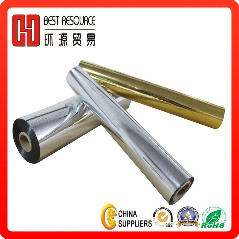 Metallized Aluminum Pet Film Silver Metalized Thermal Laminating Film