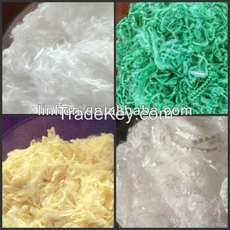 PTFE staple fiber