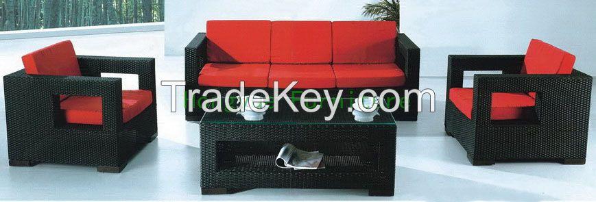 Living room wicker sofa furniture set design ideas