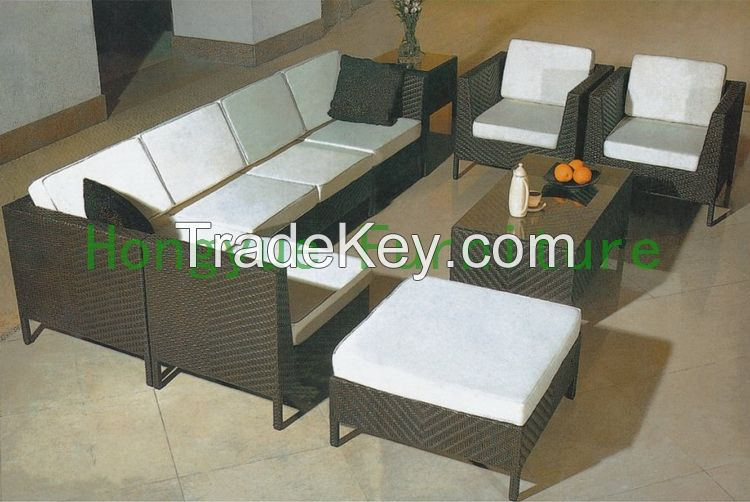 Rattan Living Room Sectional Sofa