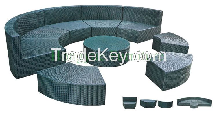 Rattan Round Sectional Sofa Furniture