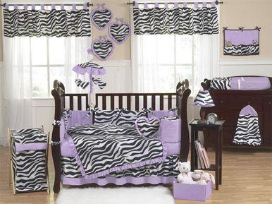Purple Zebra Crib Bedding Set (9 Piece)