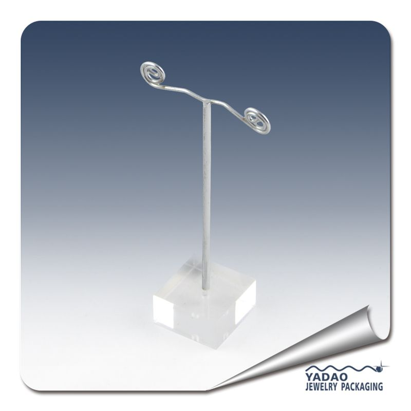 Metal Earring Display Stand with Acrylic Base