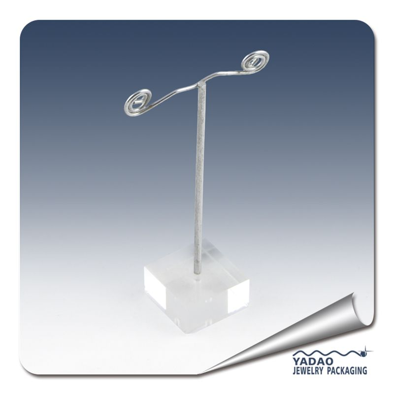 Metal Earring Display Stand with Acrylic Base