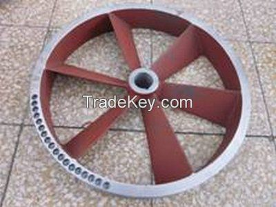 pulleys on glazing line, glazing line pulleys, ceramic tile pulleys, cast iron pulleys