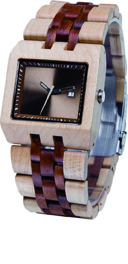 2013 latest square  wooden watch made in China,japan quartz movement