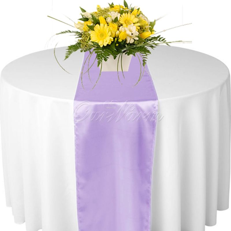 Satin Table Runner 26 Colors For Selection