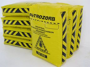 Spill kits for Hydrocarbons and Chemicals, PetroZorb Oil eater and absorbent, Spill containment products like Booms, socks, pillows and pads