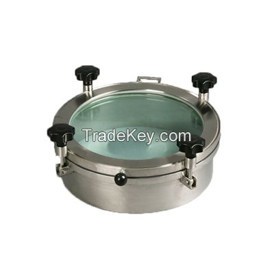 staniless steel sanitary round non-pressure manhole cover
