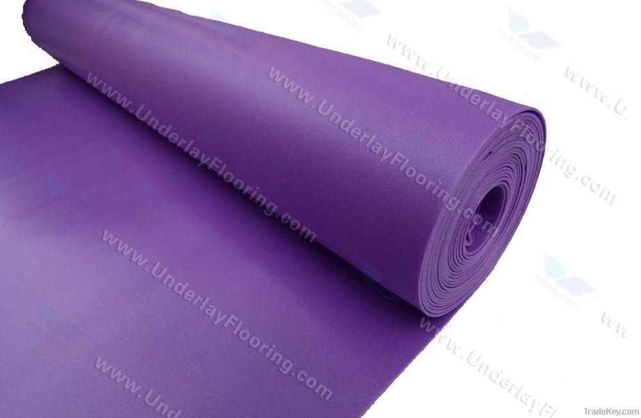 IXPE crosslinked polyethylene foam underlayment for bamboo flooring