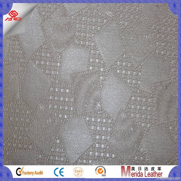 funiture upholstery pvc/pu leather fabric