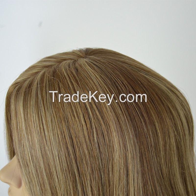 100% Mongolian Virgin Hair Silk Top Kosher Jewish Wig