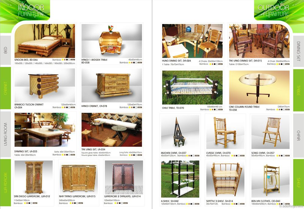 Bamboo cabinets and chair