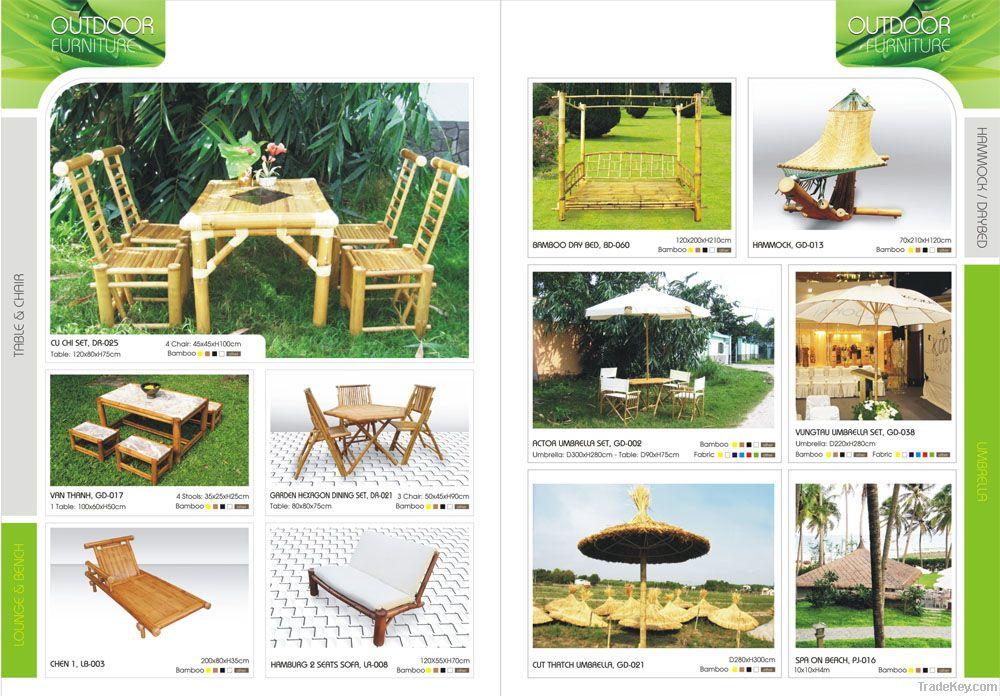 Outdoor Bamboo furniture