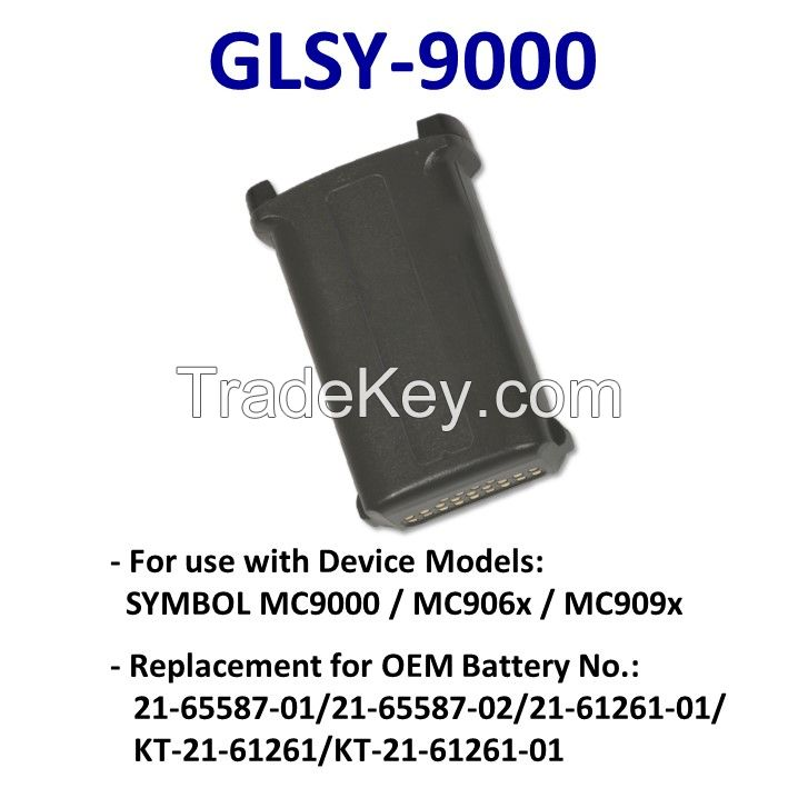 Li-ion Battery Packs for SYMBOL MC9000 Barcode Scanner (battery SYMBOL MC9000 original P/N:21-65587-01/21-65587-02/21-61261-01/KT-21-61261/KT-21-61261-01)