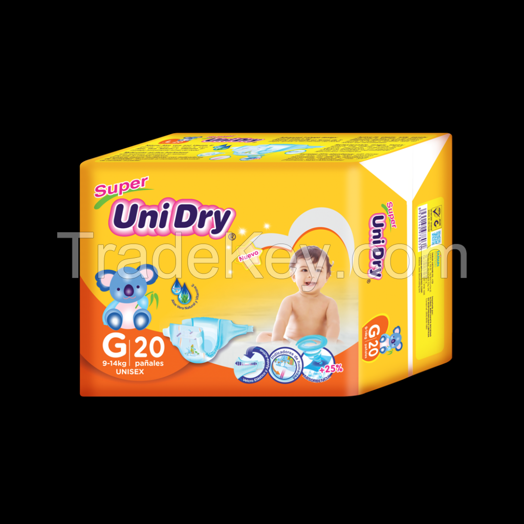 SUPER UNIDRY BABY DIAPERS, UNISEX HIGH QUALITY, GOOD PRICE MADE IN VIETNAM