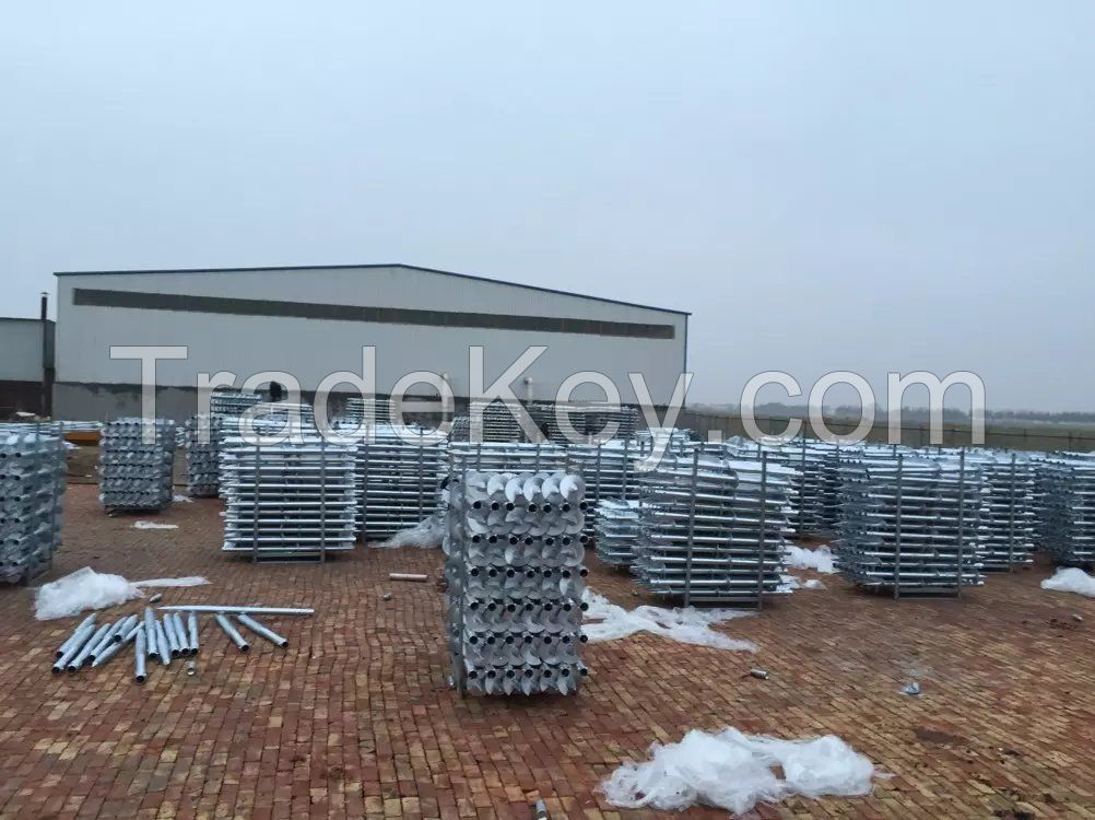 ground screw pile for solar energy mounting