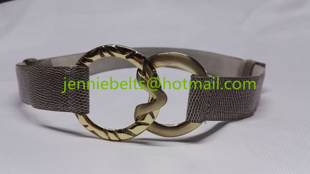 2015 Fashion Faux Snake Print Leather Wide Waist Belt For Women