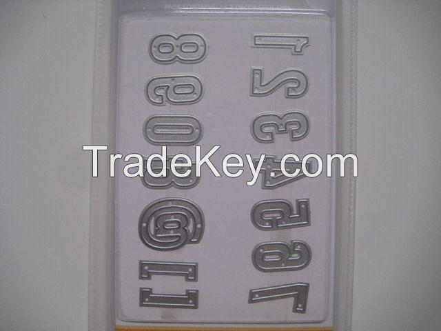 DIY digital sign bump cutting template Die ET-6501