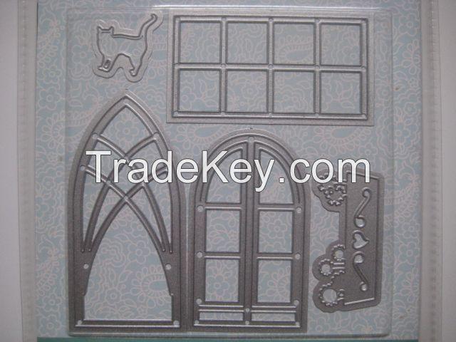 Spellbinders DIY house template Die cut lace template house decoration