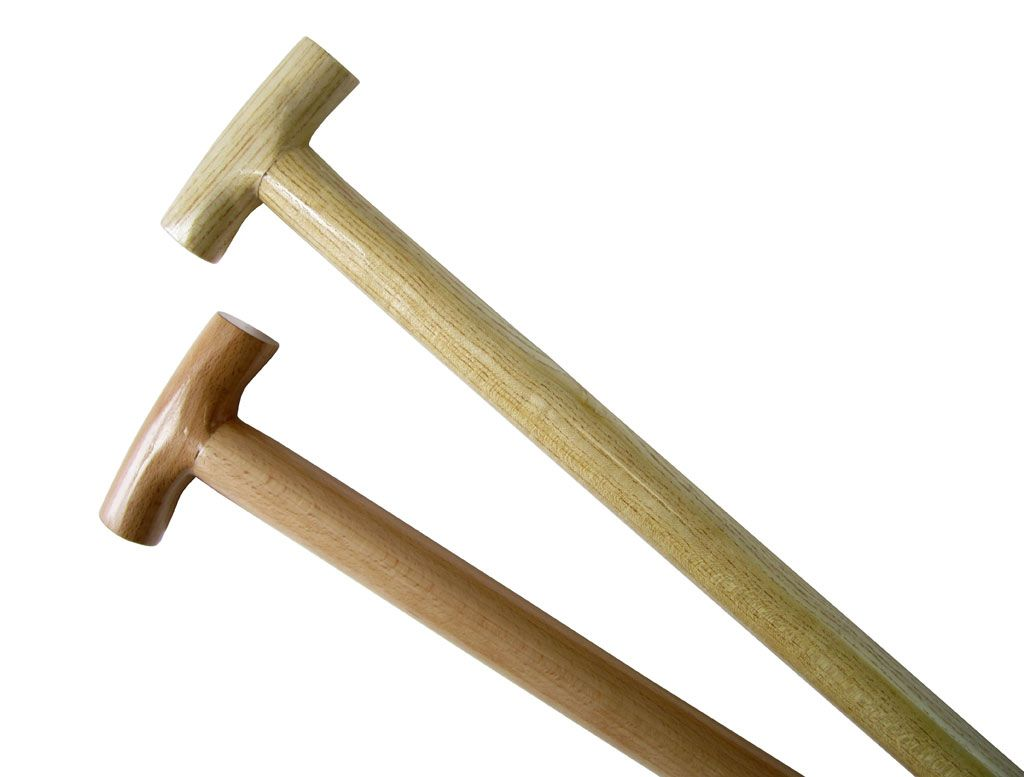 T shaped Shovel with wooden handle