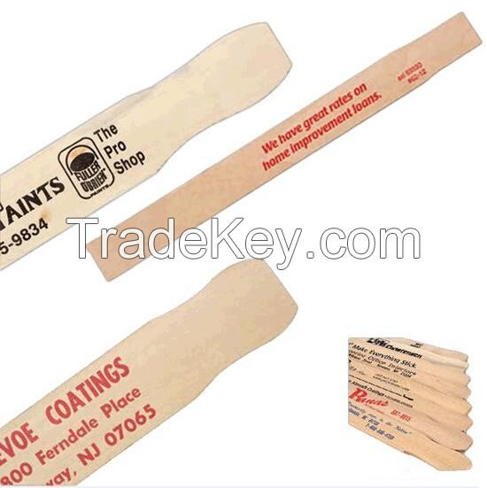 wooden paint paddles, wooden paint stirring sticks, wooden paint stirrers, paint paddle