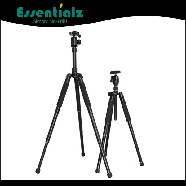 compact tripod folded to only 320mm, with monopod foot