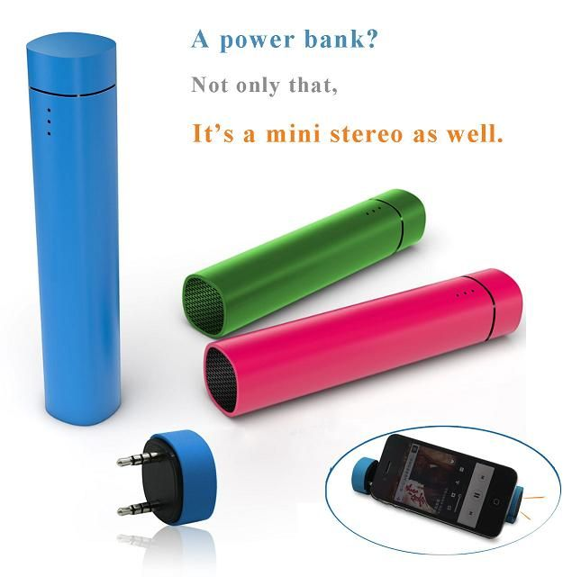 2013 Style Power Bank 4000mAh with Speaker
