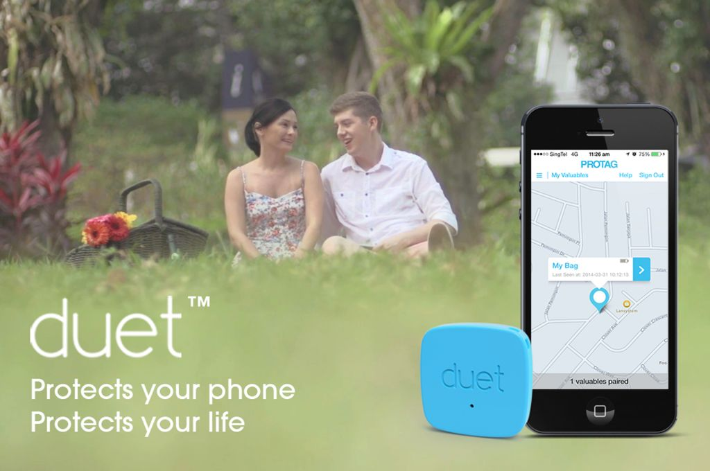 DUET: smart tag that prevents lost of phone