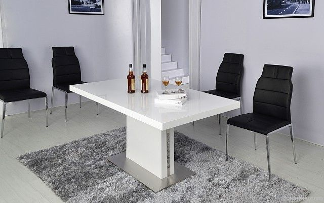 modern tempered glass dinning table