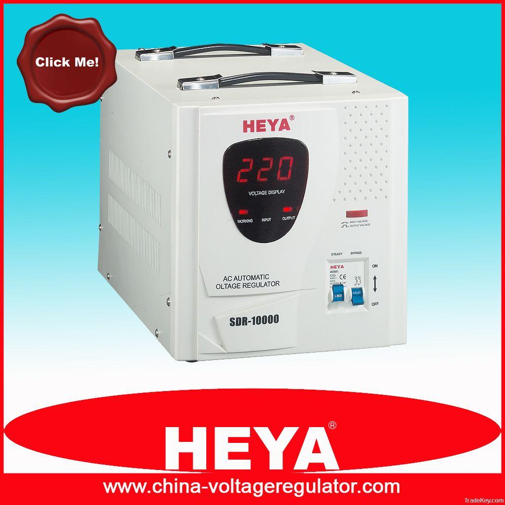 relay type full automatic voltage regulator