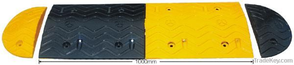 Durable 1 meter reflective full rubber speed humps