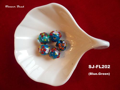 colored glaze bead