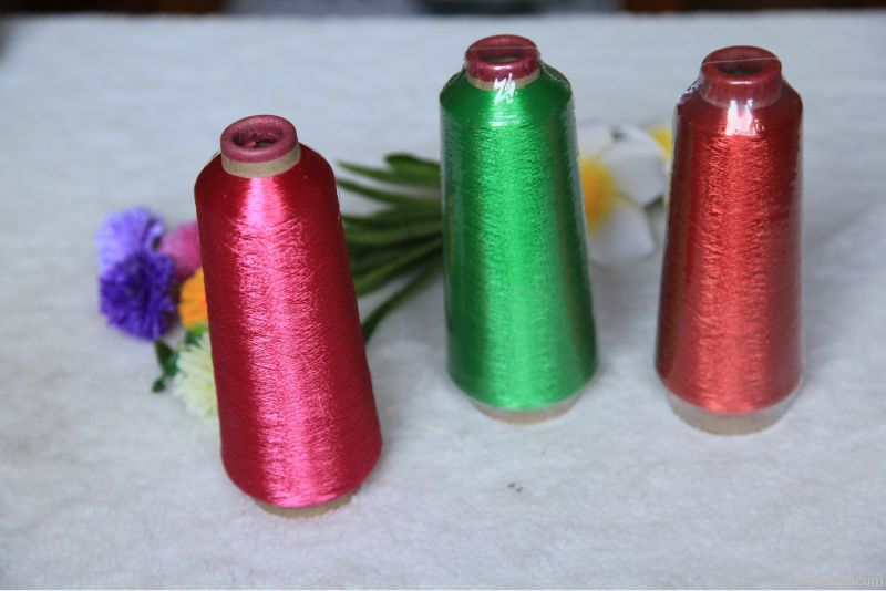 ST/MX Type metallic yarn for embroidery, knitting, silver thread, 150D