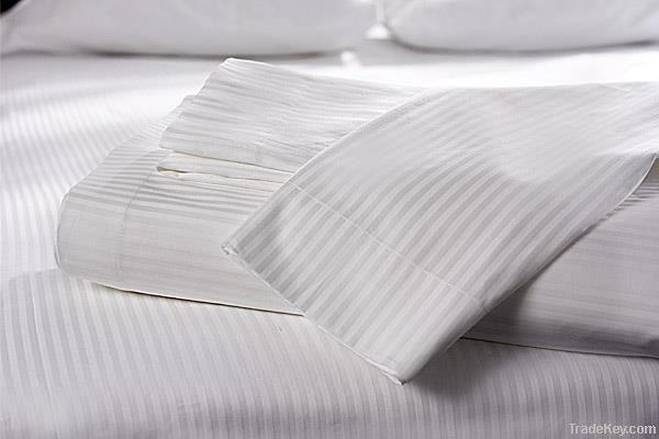100% cotton Satin Stripe fabric